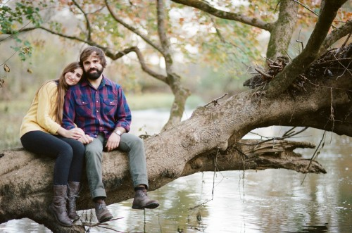 Alexandra & Josh: Fall Engagement Session (Film Photographer)