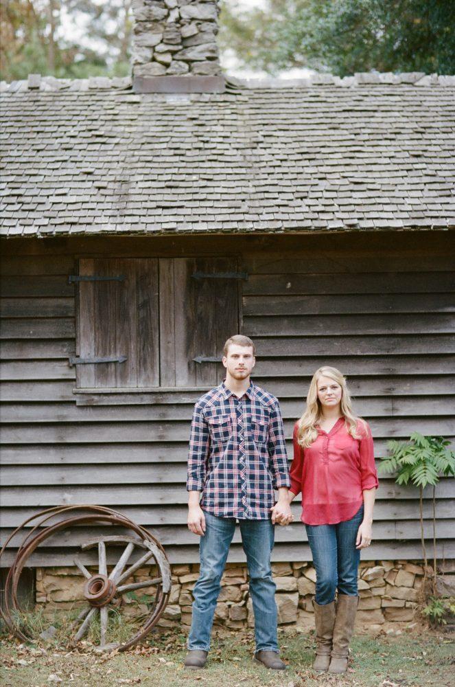 Sonia & Matt: Burritt on the Mountain Engagement (Alabama Film Photographer)