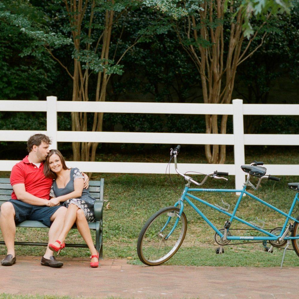 Lindsay & Chad: Tandem Bike Engagement Session
