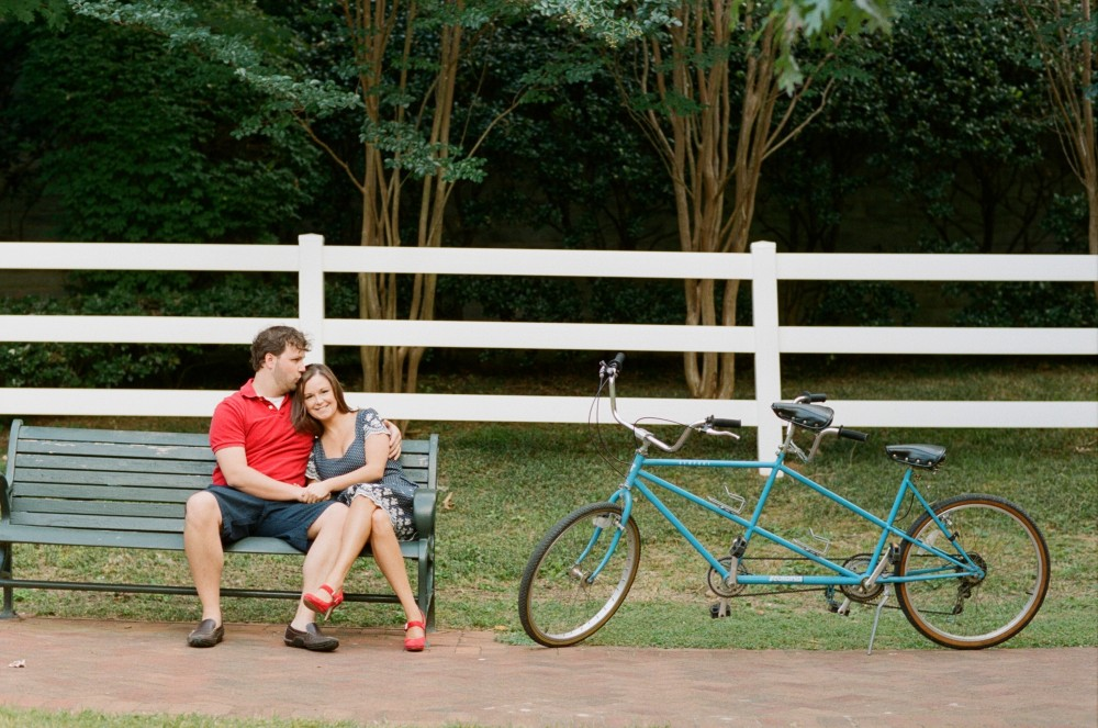 Lindsay & Chad: Tandem Bike Engagement Session