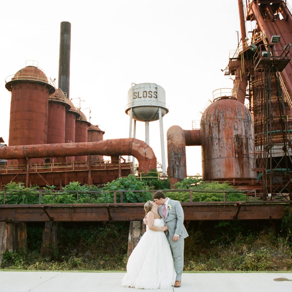 Anna-Wesley & Grant: Sloss Furnaces Wedding