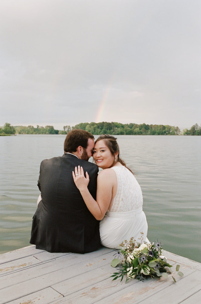 Shanshan & Joe: Rainbow Lakeside Wedding