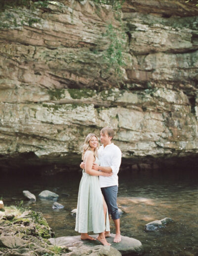 Kena & TJ's Waterfall Engagement