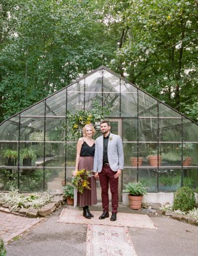 Stephanie & Shannon: Greenhouse Elopement
