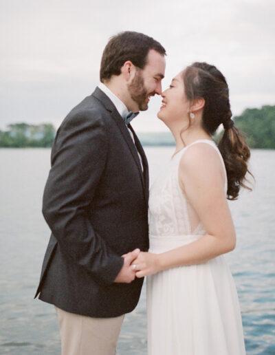 Shanshan & Joe: Rainbow Lakeside Wedding